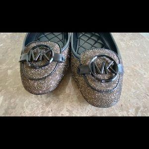 MICHEL KORS glitter flat shoes